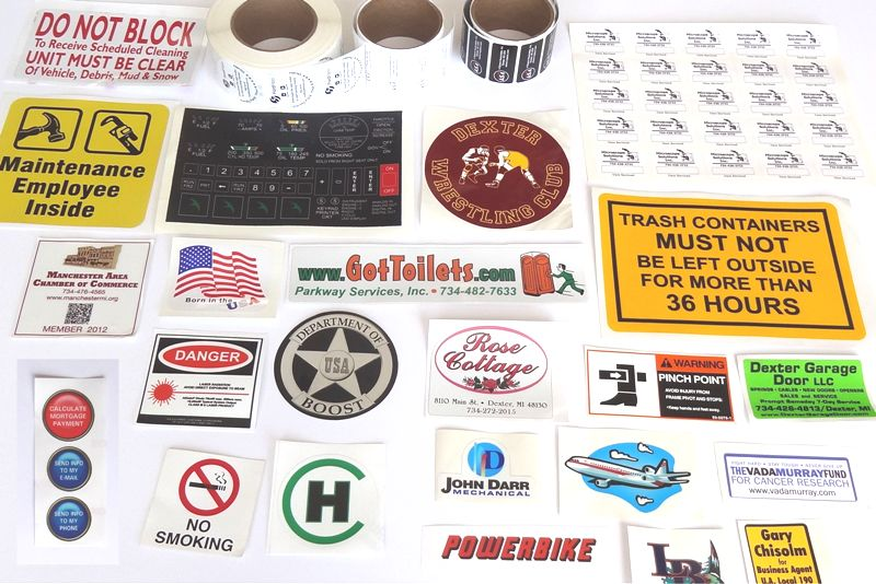 Decals, Stickers and Labels