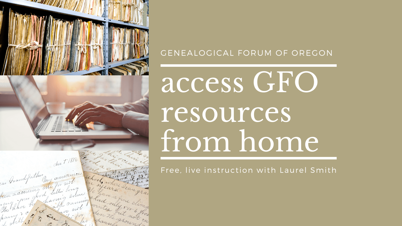 Access GFO Member Resources from Home