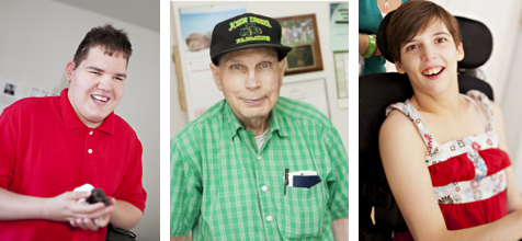 Three photos of people PSRS supports who are featured in teh stories : 1. Shaine 2. Clyde 3. Melissa