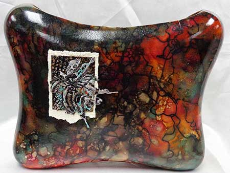 Horsehair Pottery Rectangle Butterfly Embellishment