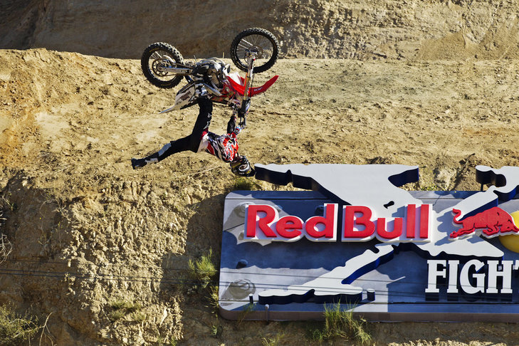 S28000A - Large  3-D Dimensional Red Bull Motocross Event Sign