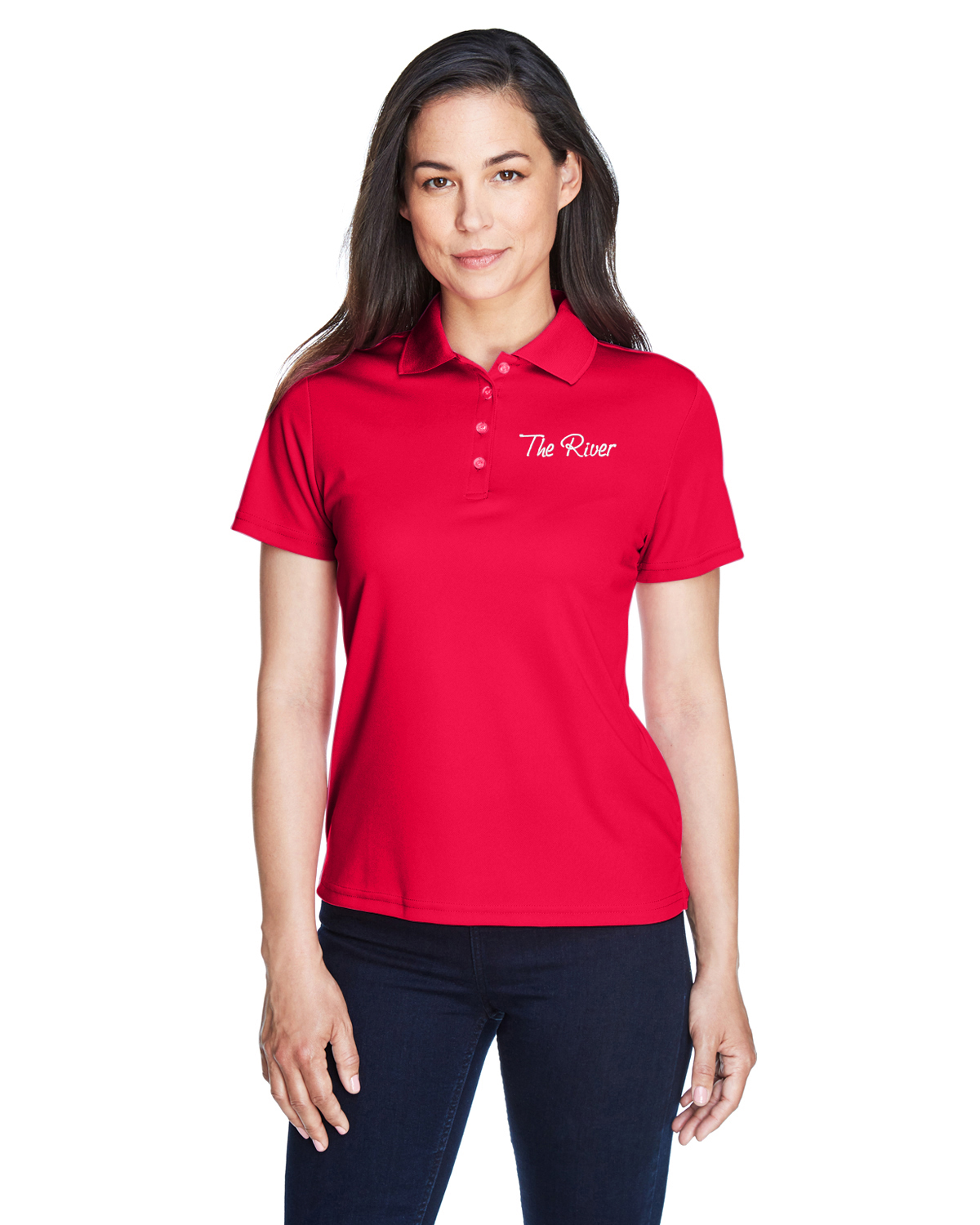 78181 Core 365 Ladies' Origin Performance Piqué Polo Classic Red