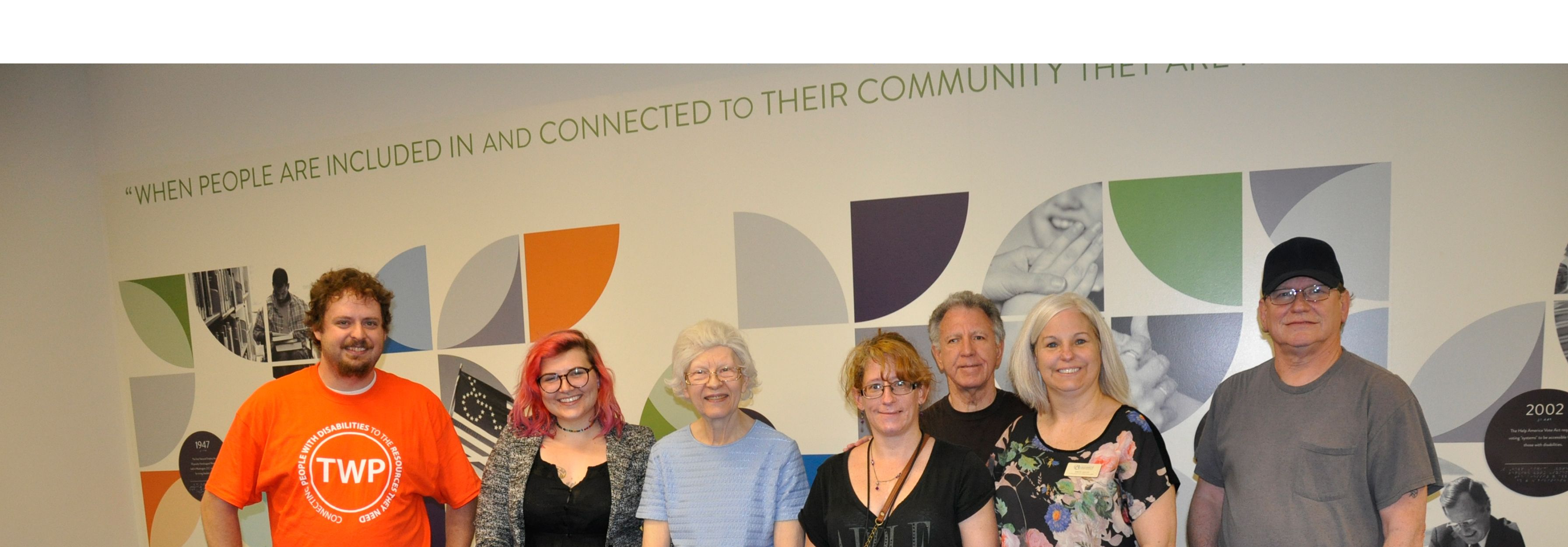 Group shot of Deaf Peer Support group