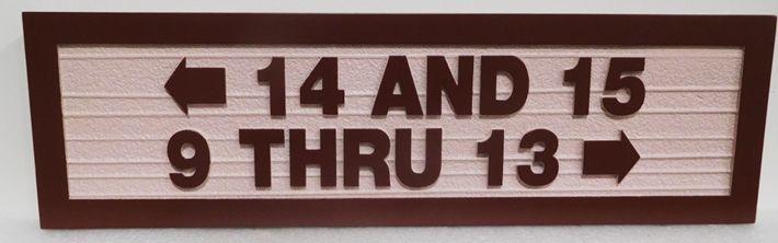 KA20854 - Custom Carved  Directional Unit Number Building Sign
