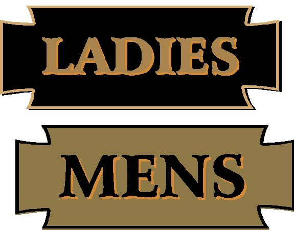 GB16798 - Carved, Wood Grain Texture, HDU Signs for Men's and Ladies' Rooms