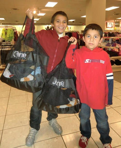 """See how much we got into our sacks? All """"free""""."""