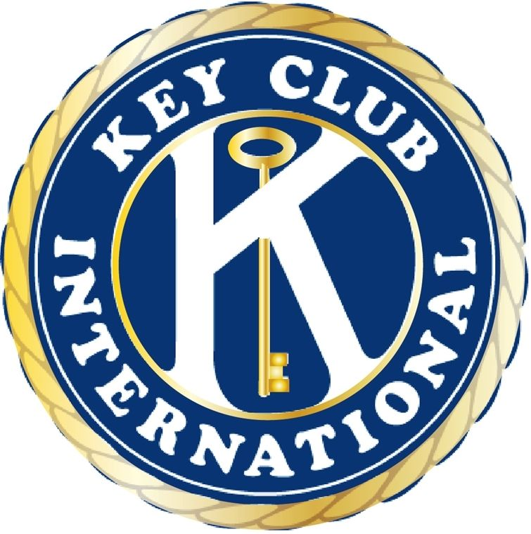 Z35112 -  Carved Wall Plaque with Kiwanis Key Club  International Logo/Emblem