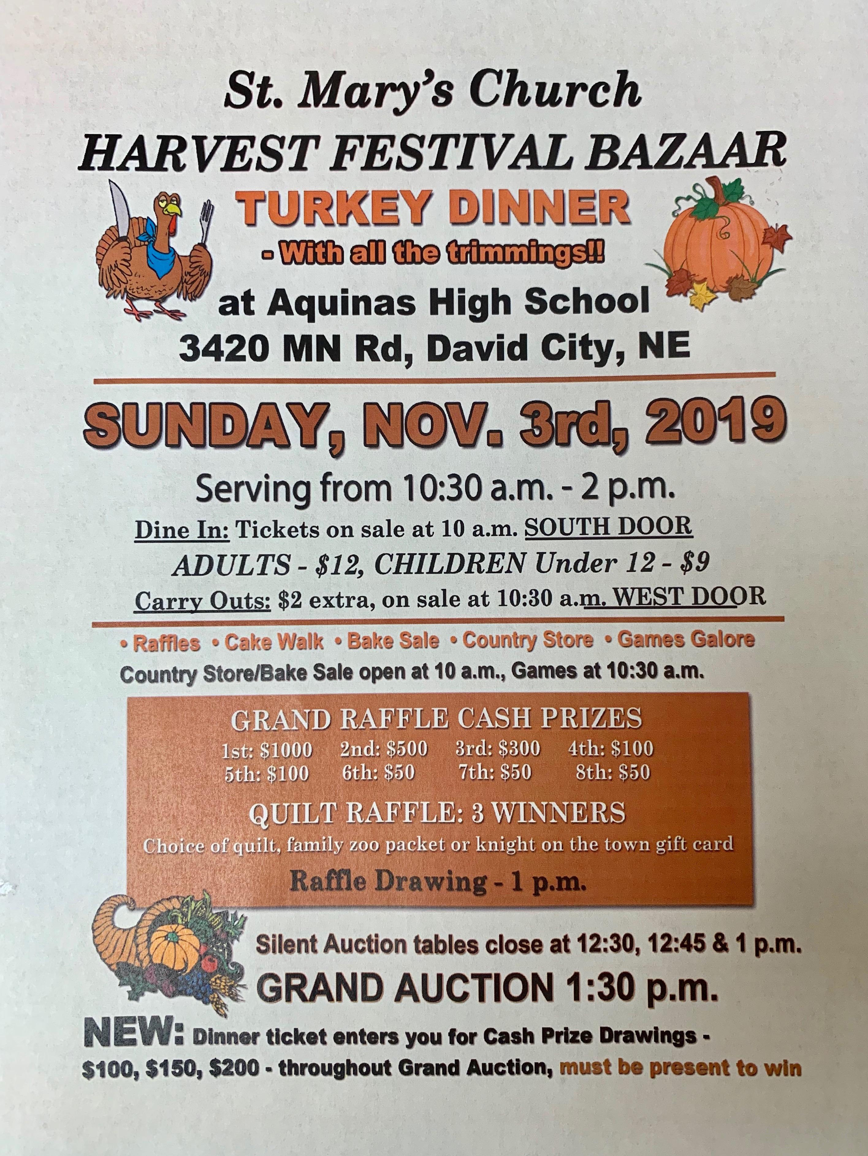 St. Mary's Church - Harvest Festival Bazaar