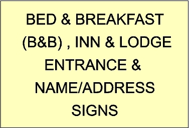 Smaller Wall , Post and Hanging Signs for B&Bs, Lodges, and Inns