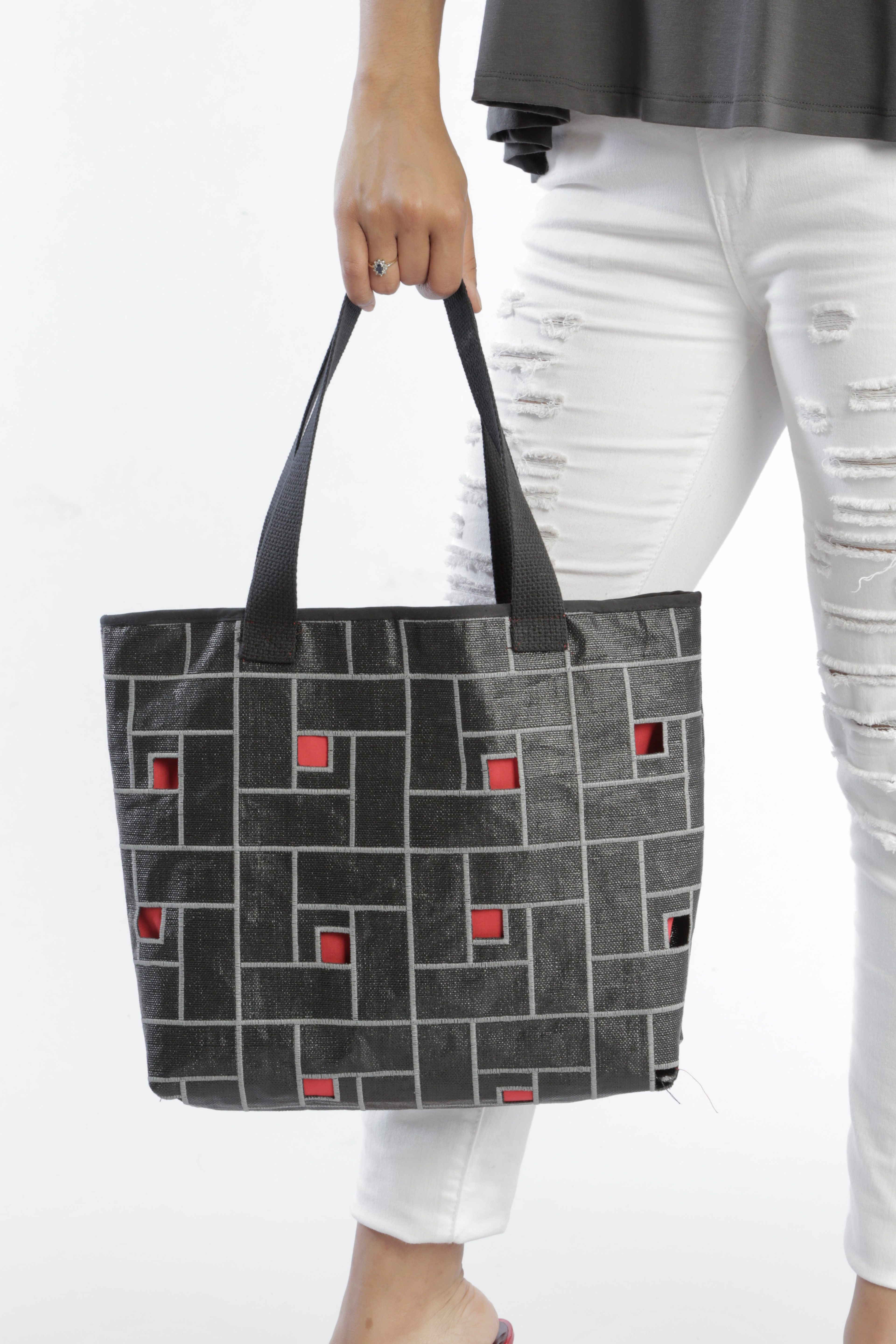 Red Window Tote
