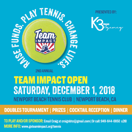 Second Annual Team IMPACT Open – Tennis Tournament