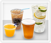 clear PET cups