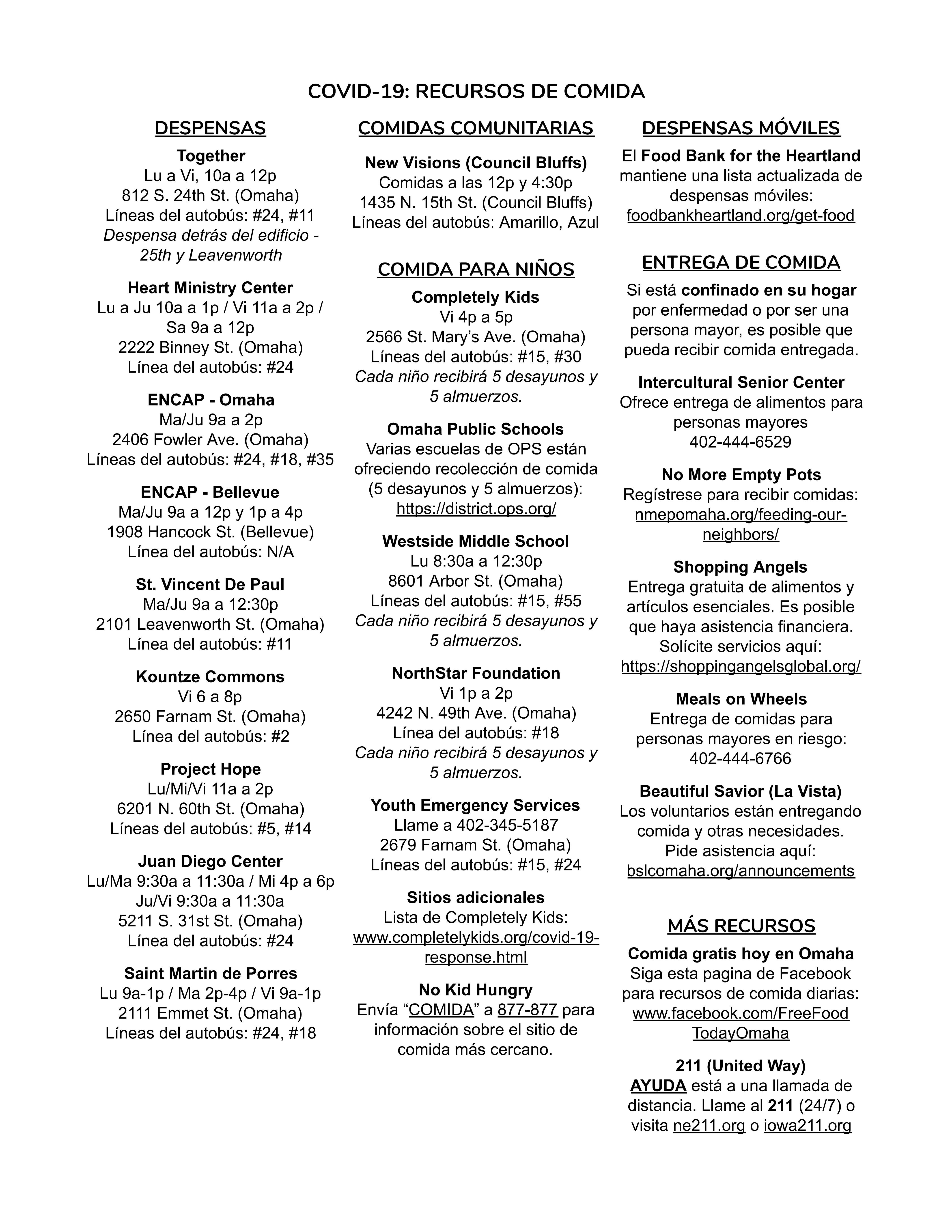 COVID-19 Resource Guide 3 (Spanish)
