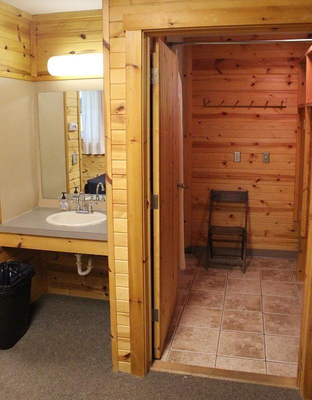 Arbor Village Cabin Bathroom & Sink Area