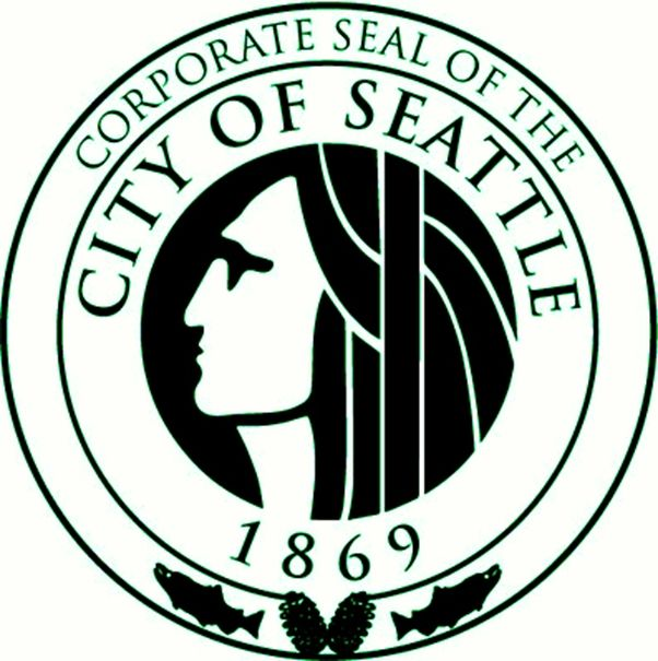 DP-2100 -  Plaque of the Seal of the City of Seattle, Washington, Giclee
