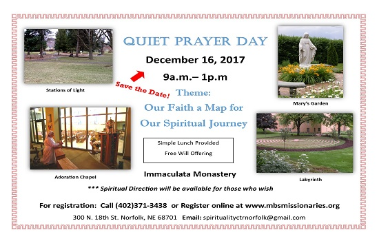 Quiet Prayer Day - December 16th