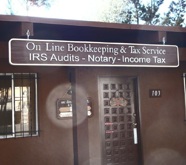 C12060 - Large Hanging Bookkkeeping & Tax Service Sign