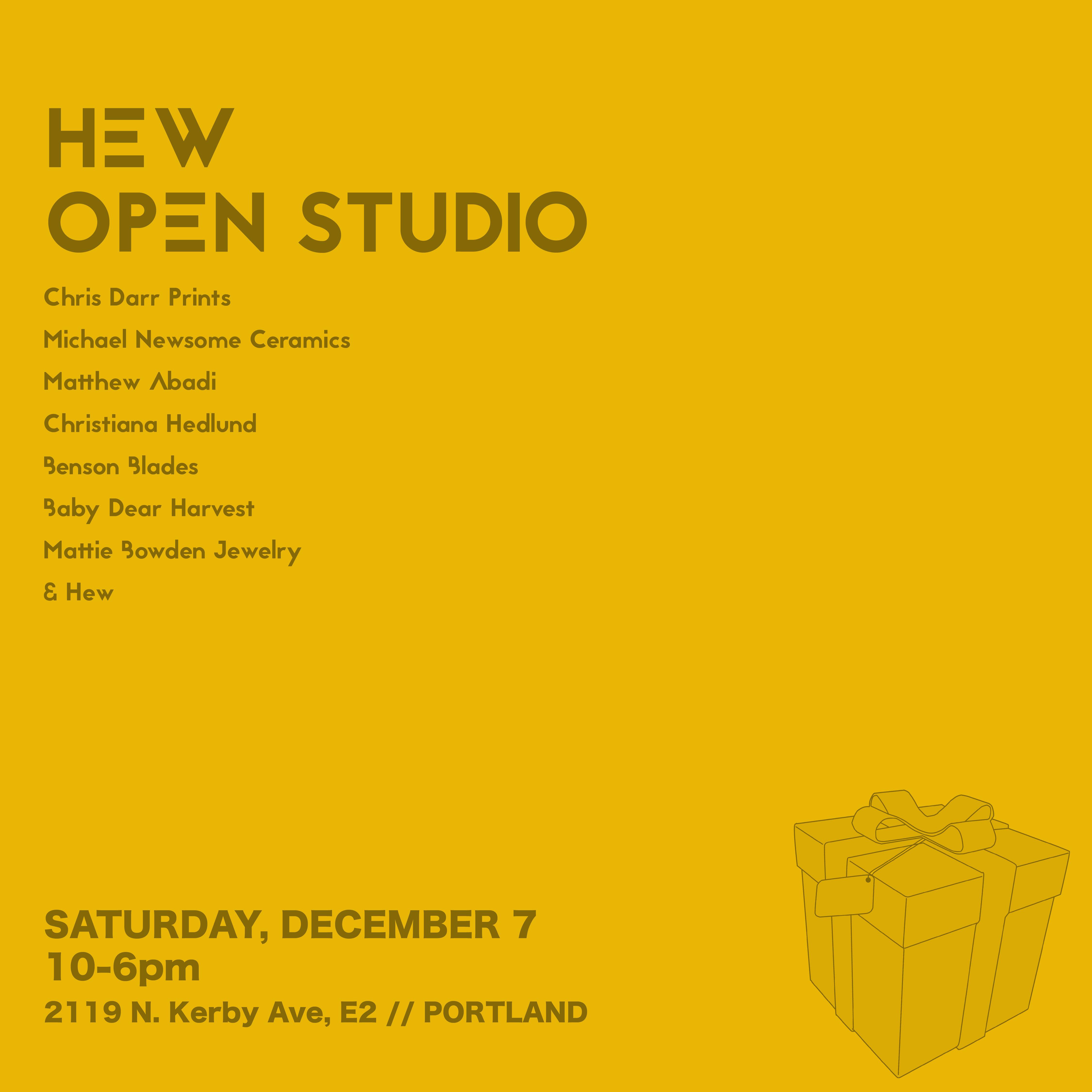 HEW Open Studio Sale