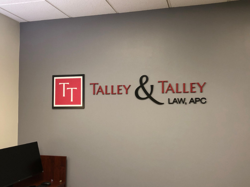 Law Firm Office Wall Logo Signs | Laguna Hills CA