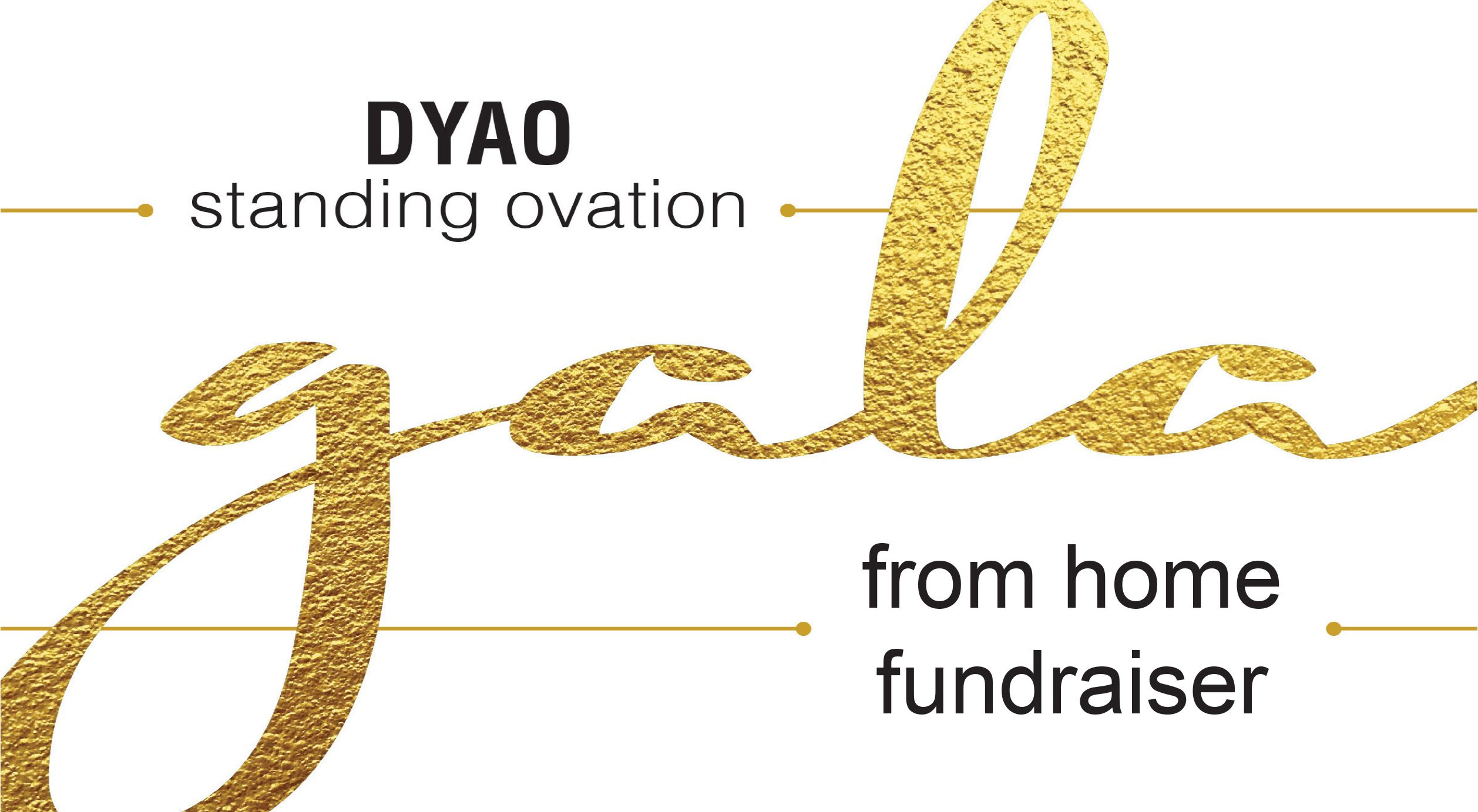 "Save the Date: Standing Ovation ""From Home Fundraiser"" Gala April 5"