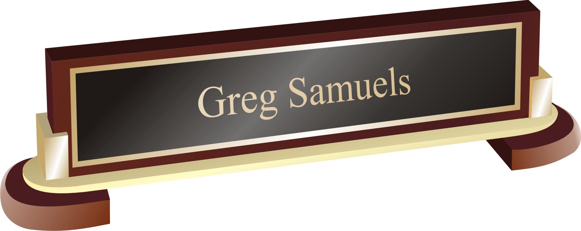 Brass Post Desk Plate