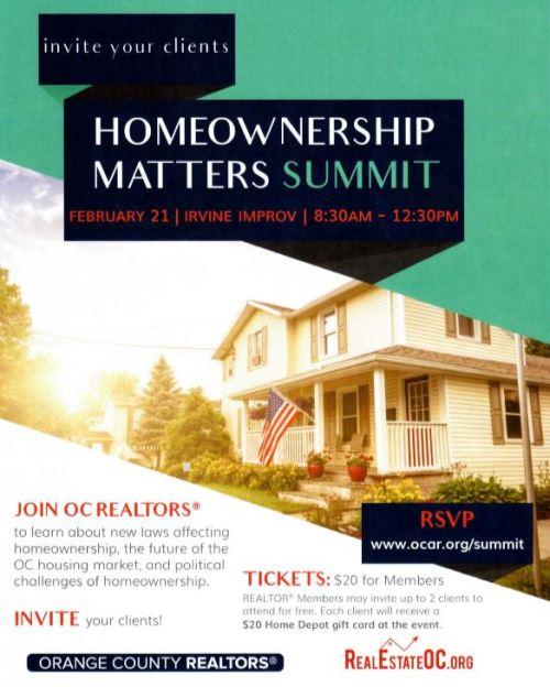 Homeownership Matters Summit