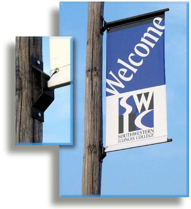 Pole Banner Brackets for Wooden Poles