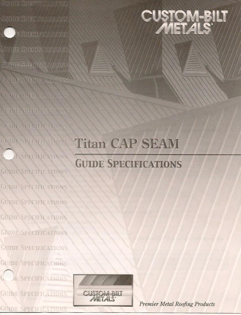 Guide Specs: Cap Seam