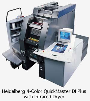 Heidelberg Digital Four Color Quick Master DI 46-4 Plus Press with Infrared Dryer