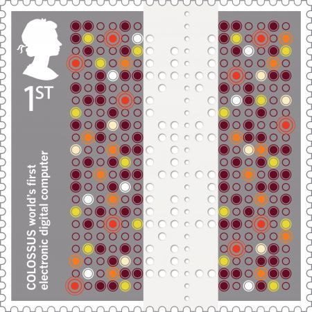 Royal Mail honours Tommy Flowers with a first class Colossus stamp.