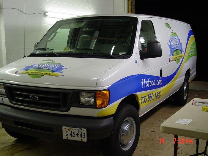 Fairfax Food Services Van Graphics
