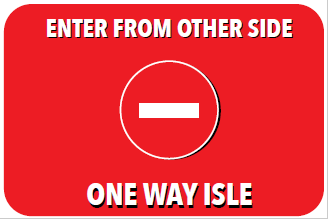 8 x 12 RED ENTER OTHER SIDE Floor Graphic