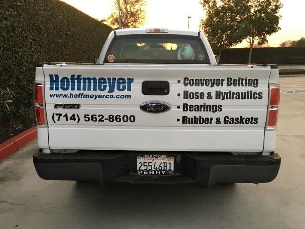 Fleet truck lettering Orange County