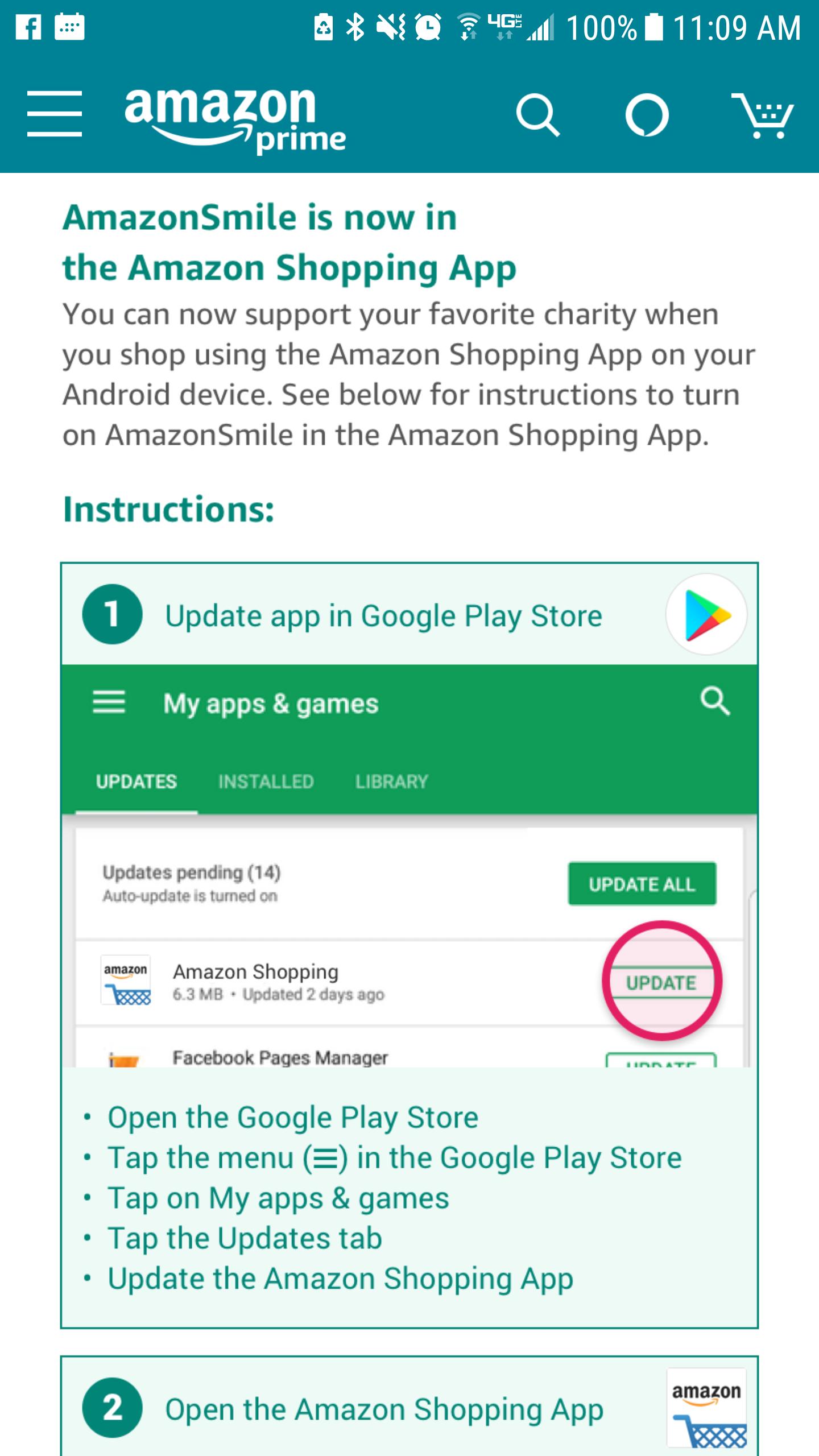 1. Update App in Google Play Store