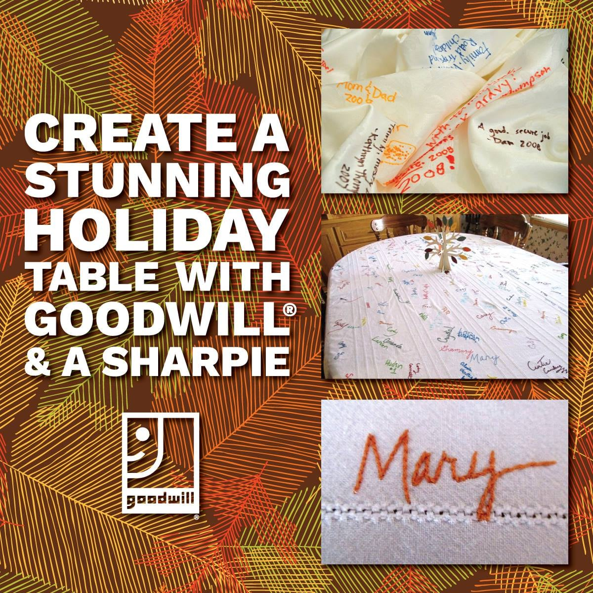 Create a Stunning Holiday Table with Goodwill® and a Sharpie