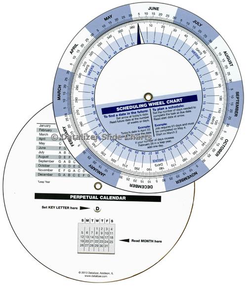 "6"" Scheduling Wheel & Perpetual Calendar"