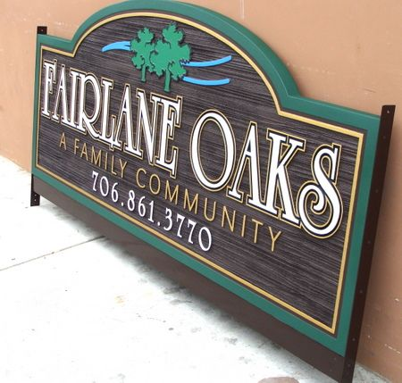 M5198 - Sandblasted and Carved Urethane Neighborhood Association (HOA) Entrance Sign