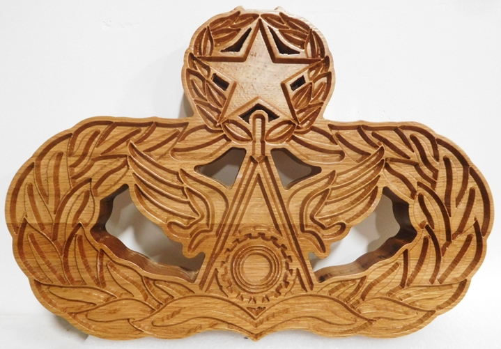 MP-2595 - Wall Plaque of a Crest/ Insignia of a Unit of the US Army, 2.5-D Outline Reloief Mahogany