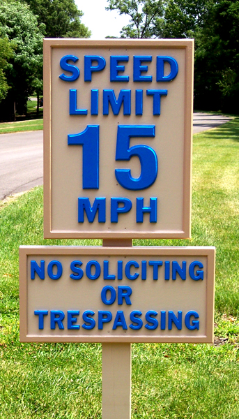 CNC ROUTED SIGN, SPEED LIMIT SIGN2