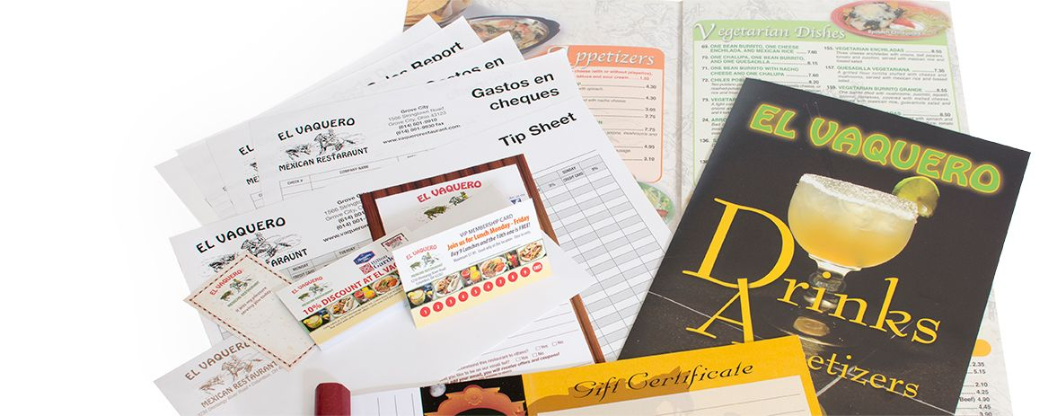 Need Disposable Menus?