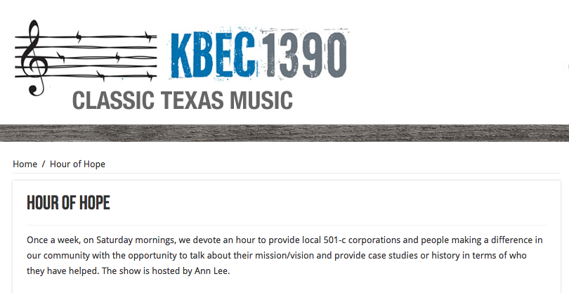 KBEC Radio's Hour of Hope Hosts DPR