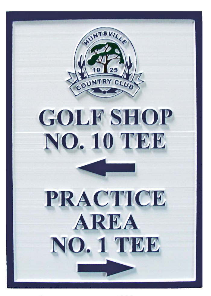 E14220 - Sandblasted Directional Golf Sign