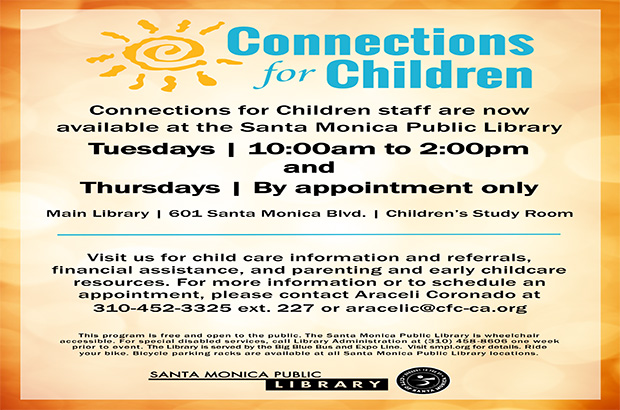 Our staff is now available at the Santa Monica Public Library!