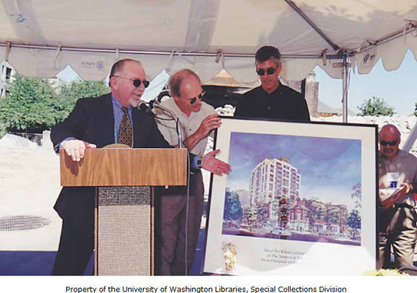 Joshua Gortler and architects during the groundbreaking for The Summit at First Hill, on July 11, 1999