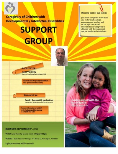 Support Group for Caregivers of Children (under 21) with Developmental or Intellectual Disabilities (Flemington)