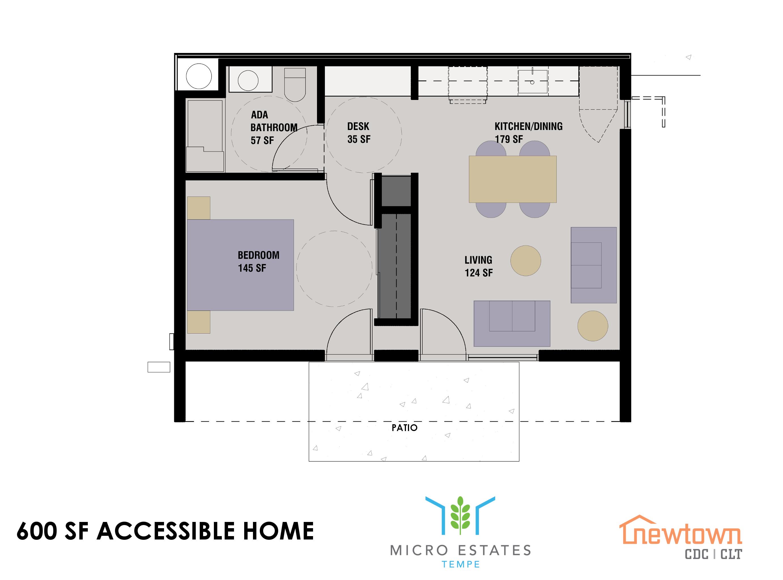 Plano de planta para la casa accesible