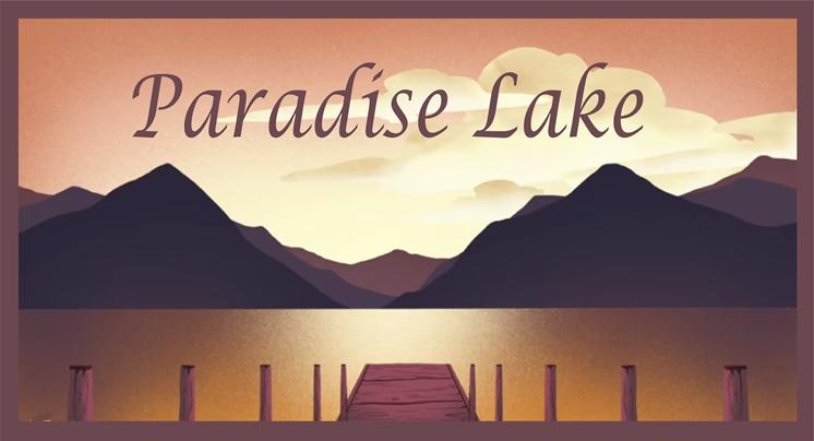"M22301 - Elegant Property Name ""Paradise Lake"" Sign"