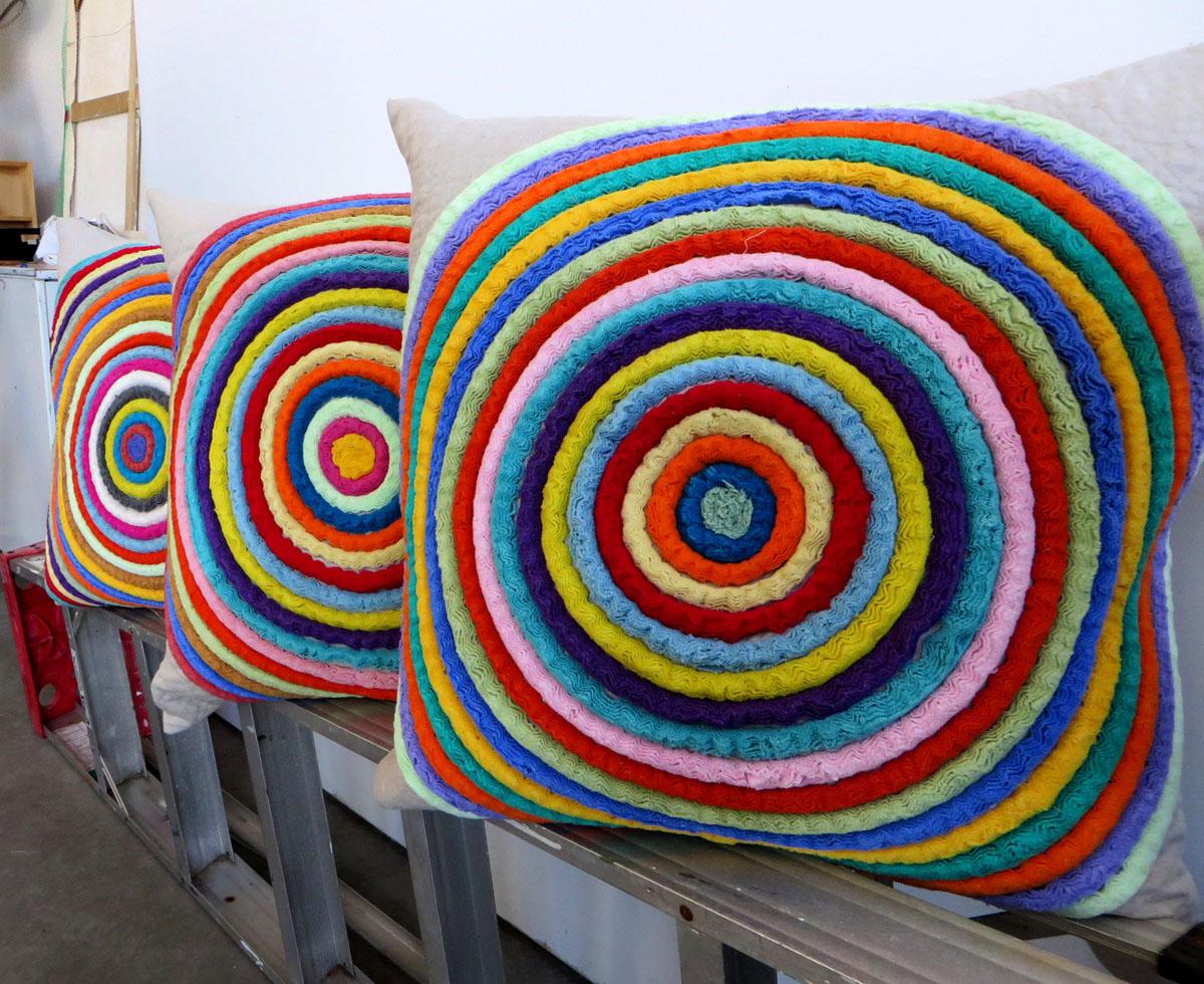 Concentric circle pillows