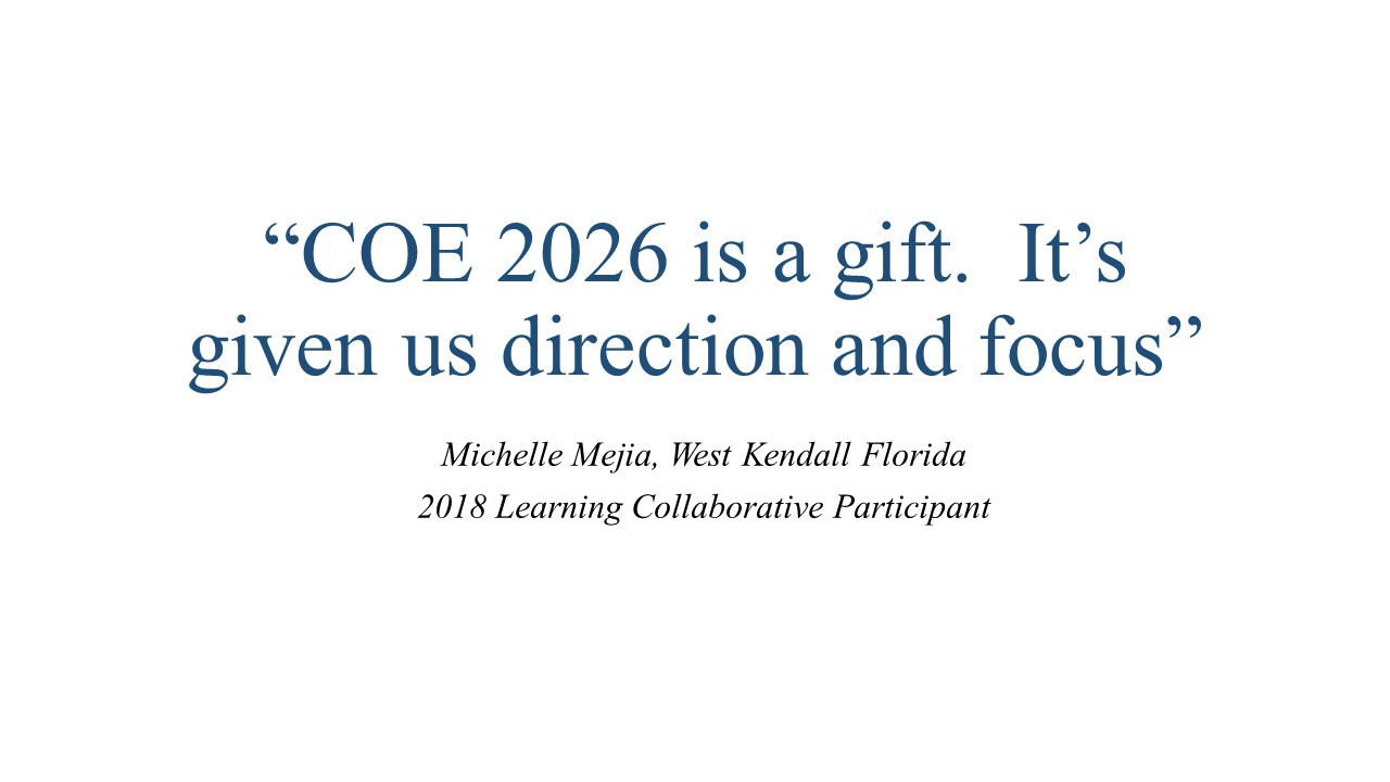 We are now accepting applications for the 2019-2020 National Learning Collaborative Cohort
