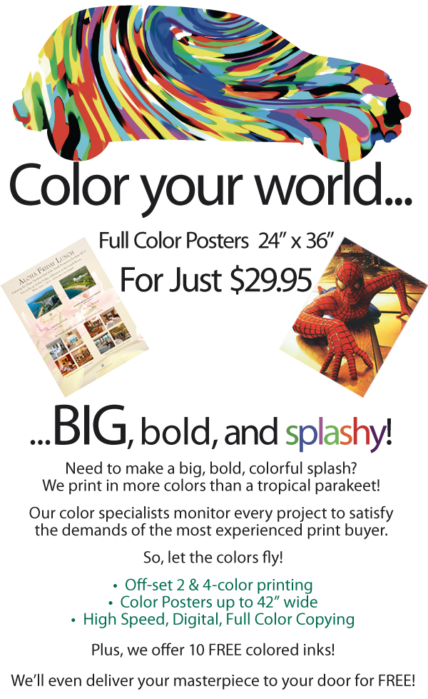 Large Format Color Copying
